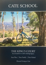 """Cate School - """"The King's Court"""" - Brochure Cover"""